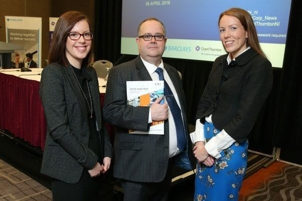 Emma Collins, Principal Policy Adviser at CBI, Mike Harris, Cyber Security Partner at Grant Thornton, and Joanna McArdle, Director at Barclays bank.