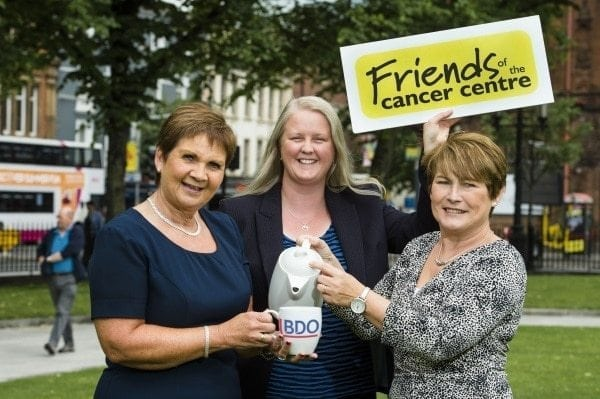 Carol Malcolmson, Partner BDONI, Colleen Shaw; CEO Friends of Cancer and Maybeth Shaw launching their new Charity of the Year, Friends of Cancer. Picture: Elaine Hill
